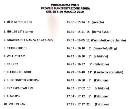 programma pisa air show 2019-2