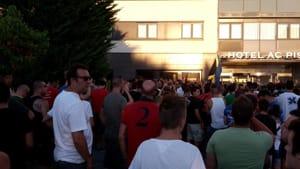 protesta tifosi pisa celta vigo pullman 1-6