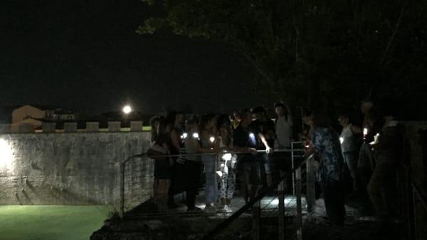 Le Mura di Pisa in notturna