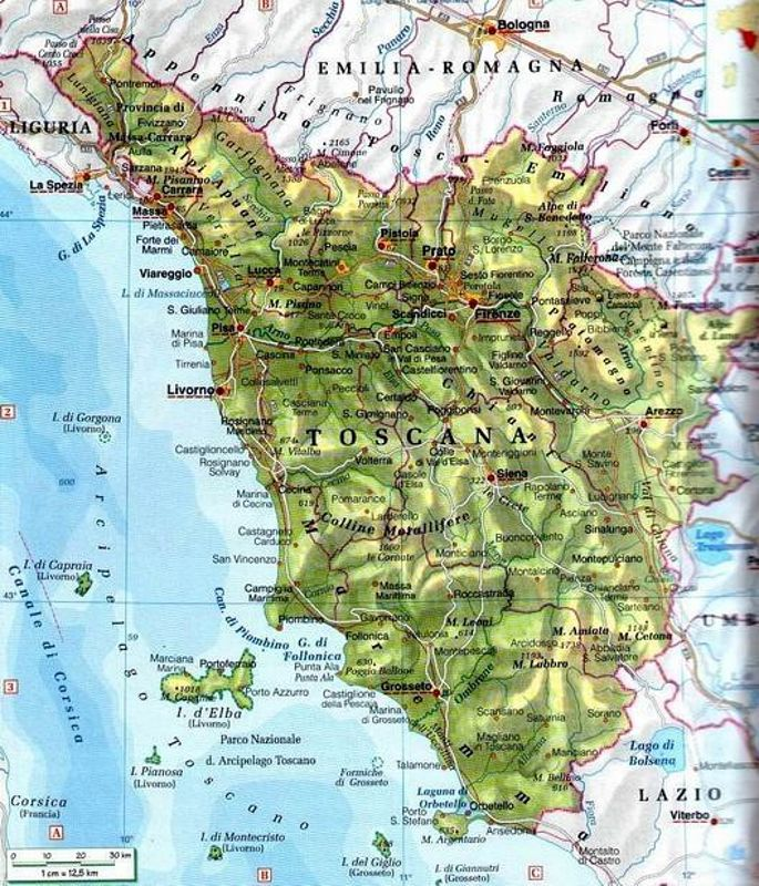 Toscana Fisica Cartina.Piano Strutturale D Area Per Unioni Dei Comuni In Toscana